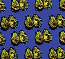 Avocado - Blue by ruthkatherinee