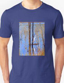 White Heron at Hinze Dam Numinbah Valley .Qld . Unisex T-Shirt