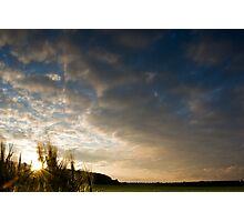 Barley Sunset! Photographic Print