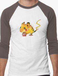 Electric Mouse Men's Baseball ¾ T-Shirt
