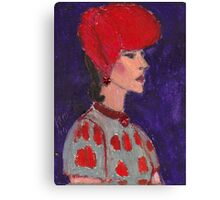 Red Hat Woman No #2 1940's Canvas Print