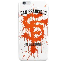 WE BLEED ORANGE iPhone Case/Skin