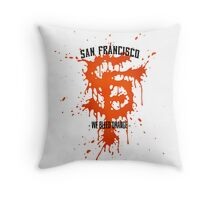 WE BLEED ORANGE Throw Pillow