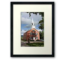 Small Town Church Framed Print