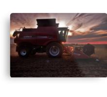 Sunset Harvesting Metal Print