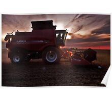 Sunset Harvesting Poster