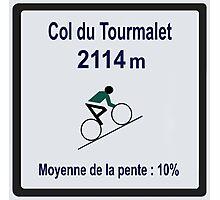 Col du Tourmalet Sign Tour de France Cycling Photographic Print