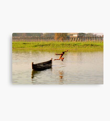 Leaping Canvas Print