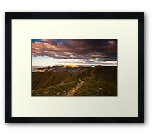 Mt Feathertop sunset Framed Print