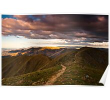 Mt Feathertop sunset Poster
