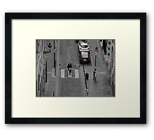 Biking in Brussels Framed Print