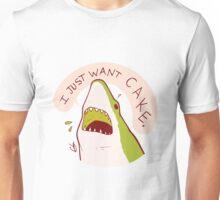 Cake Shark Just Wants Cake Unisex T-Shirt