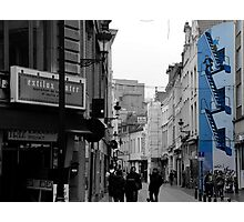 Tintin in blue in Brussels Photographic Print