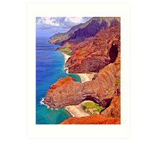 Na Pali Coast Art Print