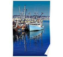 Patience Too Blue Fishing Boat Poster
