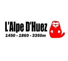 La Marmotte Alpe D'Huez Marmot Beaver Shirt Photographic Print