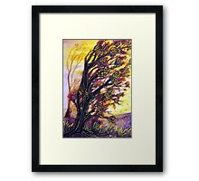 Trees in the Breeze Framed Print