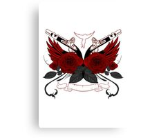 Guns and Roses RED Canvas Print