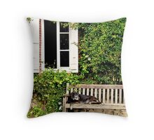 Madge reclines Throw Pillow