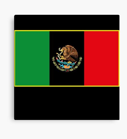 Afro Mexican Flag Canvas Print