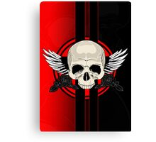 Wing Skull - RED Canvas Print