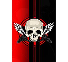 Wing Skull - RED Photographic Print