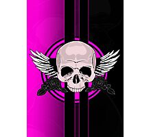 Wing Skull - PINK Photographic Print
