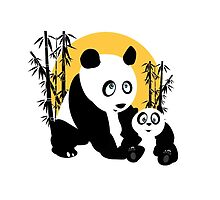 Pandas - Father & Son by Adamzworld