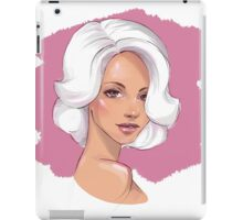 Sketch of a woman's head iPad Case/Skin