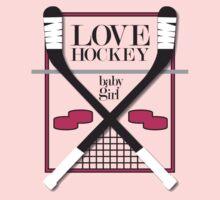 Love Hockey-Baby Girl Kids Clothes