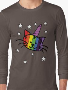 Rainbow Unicorn Cat Unikitty T Shirt Long Sleeve T-Shirt