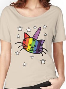 Rainbow Unicorn Cat Unikitty T Shirt Women's Relaxed Fit T-Shirt
