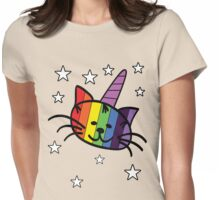 Rainbow Unicorn Cat Unikitty T Shirt Womens Fitted T-Shirt