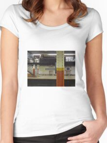 Brooklyn Bridge Subway NYC Women's Fitted Scoop T-Shirt