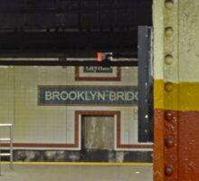 Brooklyn Bridge Subway NYC Sticker