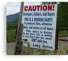 Caution! © Canvas Print