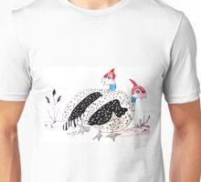Helmeted Guineafowl  Unisex T-Shirt