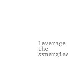 leverage the synergies by doctornick