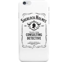World's Only Consulting Detective (BW) iPhone Case/Skin