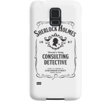 World's Only Consulting Detective (BW) Samsung Galaxy Case/Skin