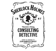 World's Only Consulting Detective (BW) Photographic Print