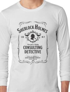 World's Only Consulting Detective (BW) Long Sleeve T-Shirt