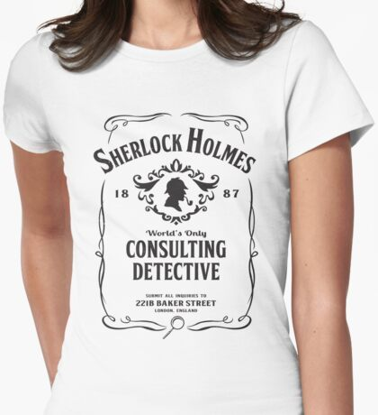 World's Only Consulting Detective (BW) Womens Fitted T-Shirt
