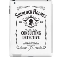 World's Only Consulting Detective (BW) iPad Case/Skin