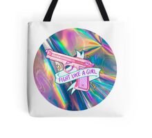 "Holographic ""fight like a girl"" Tote Bag"