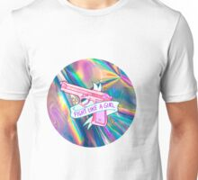 """Holographic """"fight like a girl"""" Unisex T-Shirt"""