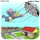Mary Poppins Lost Umbrella: By Londons Times Cartoons by Rick  London