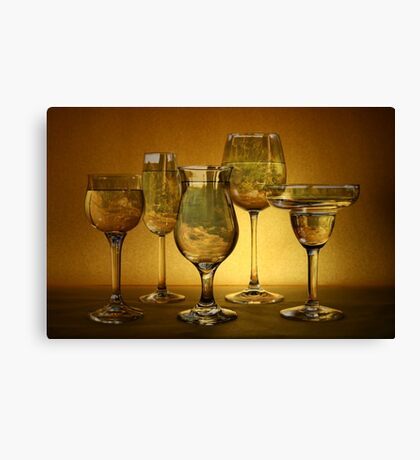 Still Life Three - montaged landscape Canvas Print