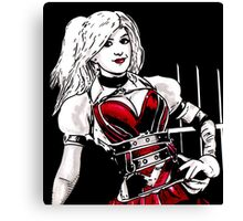Hot Girl in Red Corset 4 Canvas Print