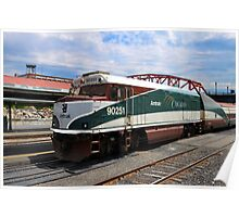 Amtrak Cascades at Portland Oregon Poster